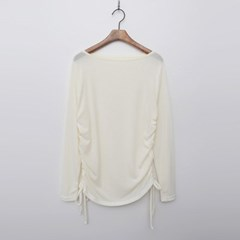 Wool Cotton Shirring Tee