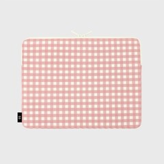 Dot strawberry check-pink-13inch notebook pouch(13인_(1655907)