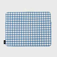 Dot strawberry check-blue(15인치 노트북 파우치)