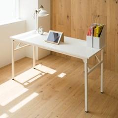 아넬 접이식 1500 화이트 스틸 책상 - 화이트
