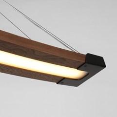 LED 펜던트 립스 월넛 애쉬 20W 카페 매장조명_(1954806)
