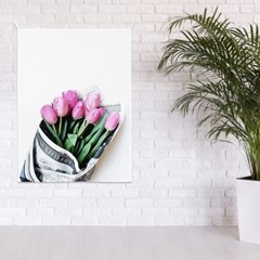 패브릭 포스터 꽃 식물 그림 인테리어 액자 핑크플라워