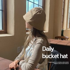 육각 린넨 버킷햇 벙거지 모자