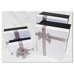 홀마크 리본 선물포장상자 4종세트-화이트