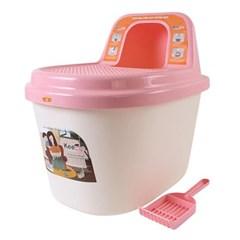 키플 탑엔트리 고양이 화장실 (핑크)