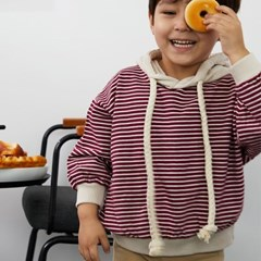 크) 단가라한스푼 아동 후드티셔츠-주니어까지