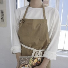french linen apron _ beige