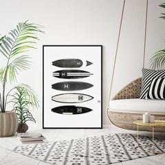패브릭 포스터 북유럽 거실 인테리어 그림 액자 서핑보드