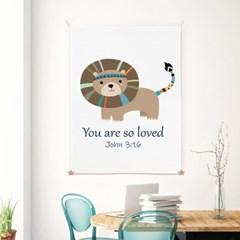 대형 패브릭 천 인테리어 포스터 가리개 성경 말씀 아이방 요한복음