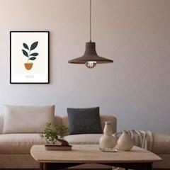 고무나무 미니멀 식물 A3 아트포스터