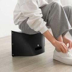 백스타일 휴대용 각접기 의자(블랙)/ 간이 폴딩체어