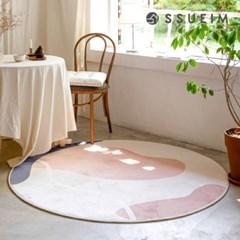 루나 드로잉 원형 러그 (2color)