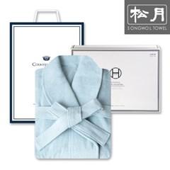 송월타월 호텔 30수 샤워가운 1매 세트(소프트블루)