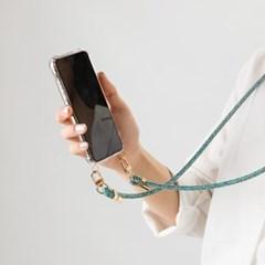 지현 핸드폰 스트랩 핸드폰줄 케이스 골드(삼성케이스- A 시리즈)