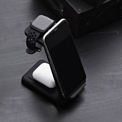 만렙 3in1 애플워치 갤럭시워치 핸드폰 에어팟 고속 무선충전기