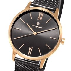 [Timepieces]세련된로즈골드블랙라인 남성메쉬시계 OTC120T01TPB