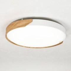 LED 원형 방등 하티 월넛 애쉬 50W 방조명 사무실조명_(1959870)