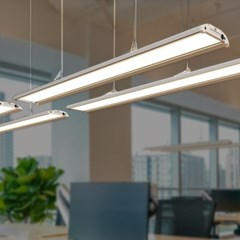 LED 펜던트 오피스 101 블랙 화이트 20W 사무실 카페 매_(1959869)
