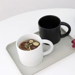 카페 무광 화이트 블랙 머그컵 커피잔