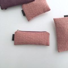 패딩 핑크 필통(Padding pink pencil case)