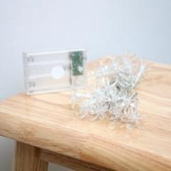 20구 벚꽃 와이어 전구 / 2M 백색 조명장식 줄전구