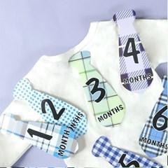 Baby months sticker_ 넥타이(12장 1set)