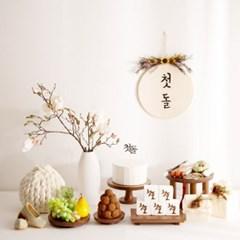 [데코봉봉]목련화 돌상 (다크브라운)