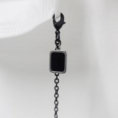 블랙마스크 스트랩 올블랙 끈 체인 마스크목걸이