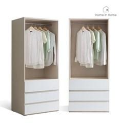 피카  오픈 드레스룸 800 3단서랍 옷장 (BD006)