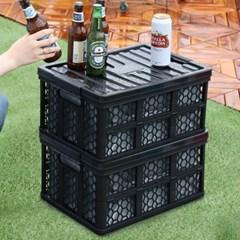 문라이프 캠핑 폴딩박스 정리함 40L(방수팩포함)