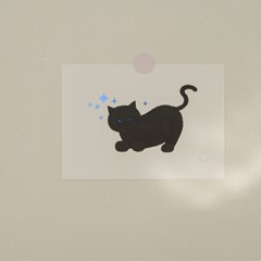 midnight cat card