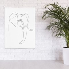 패브릭 포스터 드로잉 거실 아이방 그림 액자 코끼리