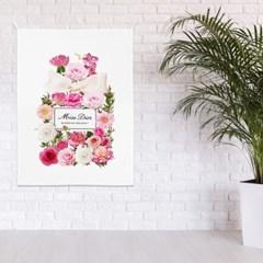 패브릭 포스터 식물 꽃 거실 인테리어 그림 액자 플라워퍼퓸