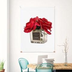 패브릭 포스터 거실 인테리어 그림 액자 식물 플라워 레드퍼퓸