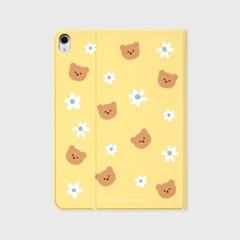 Dot flower bear-yellow(아이패드-커버)_(1646207)