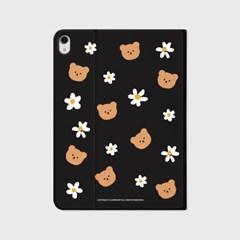 Dot flower bear-black(아이패드-커버)_(1646208)
