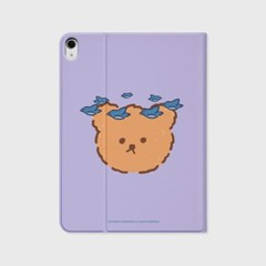Blue bird bear-purple(아이패드-커버)_(1646237)