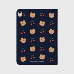 Dot cherry bear-navy(아이패드-커버)_(1646244)