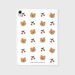 Dot cherry bear-white(아이패드-커버)_(1646245)