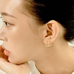 Double Ring Earrings (925 Silver) Capsule.01