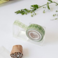 India Fabric Masking Tape [Greenery]