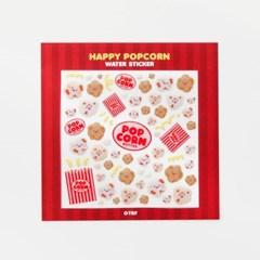 HAPPY POPCORN WATER STICKER