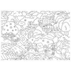 OMY 컬러링 포스터-정글 POS30