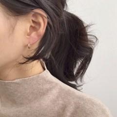 (14k gold) 베이직 링 귀걸이
