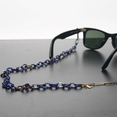 Acetate glasses chain (reo blue)