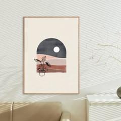 북유럽 감성 모던아트 거실 인테리어포스터 액자 창문 달