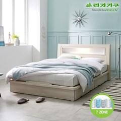 라자가구 오브 에단 LED 평상형 7존독립 Q 침대 DM9044