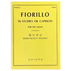 (전시상품)피오릴로 바이올린36연습곡, 카프리치오