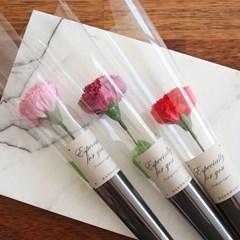 카네이션비누꽃 한송이포장