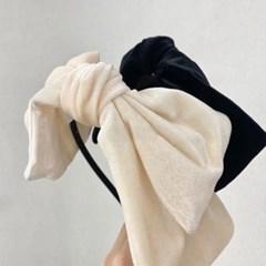 벨벳 꼬리 왕리본 얇은 연예인 패션 헤어밴드 머리띠